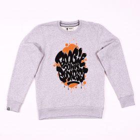 Boogie Down Budapest sweatshirt - Grey/orange - l