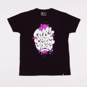 Boogie Down Budapest tshirt - black/purple - l
